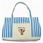 Angel Chihuahua Striped Blue Tote Bag Front
