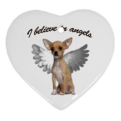 Angel Chihuahua Heart Ornament (two Sides)