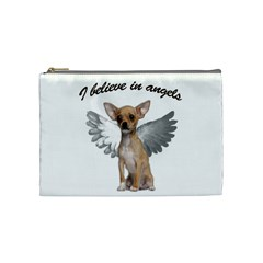 Angel Chihuahua Cosmetic Bag (medium)  by Valentinaart