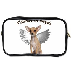 Angel Chihuahua Toiletries Bags by Valentinaart