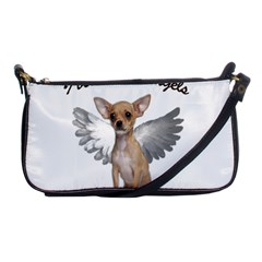 Angel Chihuahua Shoulder Clutch Bags by Valentinaart