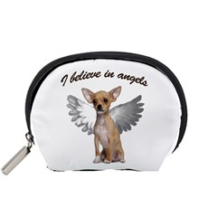 Angel Chihuahua Accessory Pouches (small)  by Valentinaart