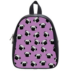 Pug Dog Pattern School Bags (small)  by Valentinaart