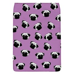 Pug Dog Pattern Flap Covers (s)  by Valentinaart