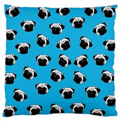 Pug Dog Pattern Large Cushion Case (two Sides) by Valentinaart