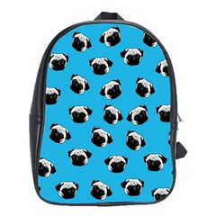 Pug Dog Pattern School Bags (xl)  by Valentinaart