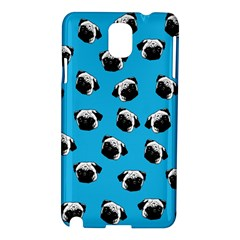 Pug Dog Pattern Samsung Galaxy Note 3 N9005 Hardshell Case by Valentinaart
