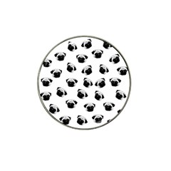 Pug Dog Pattern Hat Clip Ball Marker (4 Pack) by Valentinaart