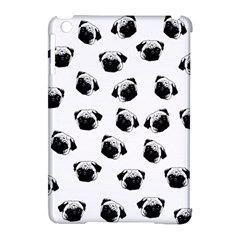 Pug Dog Pattern Apple Ipad Mini Hardshell Case (compatible With Smart Cover) by Valentinaart