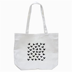 Pug Dog Pattern Tote Bag (white) by Valentinaart