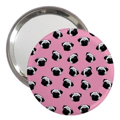 Pug Dog Pattern 3  Handbag Mirrors by Valentinaart