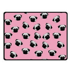 Pug Dog Pattern Double Sided Fleece Blanket (small)  by Valentinaart