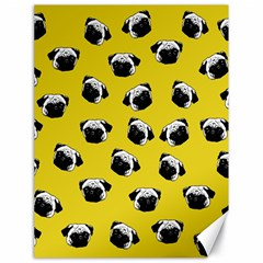 Pug Dog Pattern Canvas 18  X 24   by Valentinaart