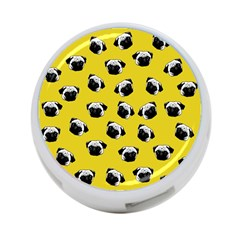 Pug Dog Pattern 4 Port Usb Hub (one Side)
