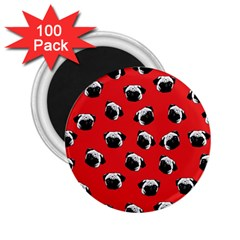 Pug Dog Pattern 2 25  Magnets (100 Pack)  by Valentinaart