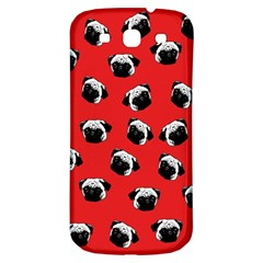 Pug Dog Pattern Samsung Galaxy S3 S Iii Classic Hardshell Back Case by Valentinaart