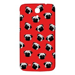 Pug Dog Pattern Samsung Galaxy Mega I9200 Hardshell Back Case by Valentinaart