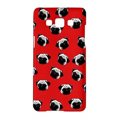 Pug Dog Pattern Samsung Galaxy A5 Hardshell Case  by Valentinaart