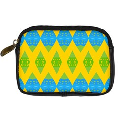 Rhombus Pattern      Digital Camera Leather Case by LalyLauraFLM
