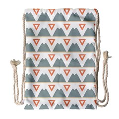 Triangles And Other Shapes           Large Drawstring Bag by LalyLauraFLM