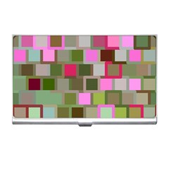 Color Square Tiles Random Effect Business Card Holders