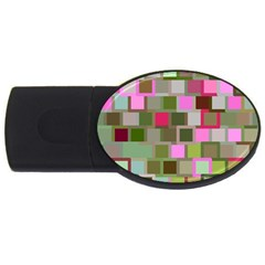 Color Square Tiles Random Effect Usb Flash Drive Oval (4 Gb) by Nexatart