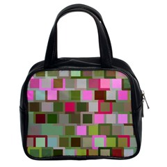 Color Square Tiles Random Effect Classic Handbags (2 Sides) by Nexatart