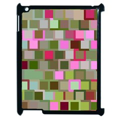 Color Square Tiles Random Effect Apple Ipad 2 Case (black) by Nexatart