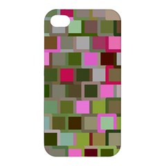 Color Square Tiles Random Effect Apple Iphone 4/4s Premium Hardshell Case