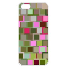 Color Square Tiles Random Effect Apple Iphone 5 Seamless Case (white) by Nexatart