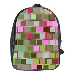 Color Square Tiles Random Effect School Bags (xl)