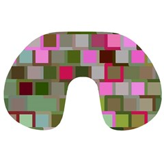 Color Square Tiles Random Effect Travel Neck Pillows by Nexatart
