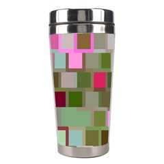 Color Square Tiles Random Effect Stainless Steel Travel Tumblers by Nexatart