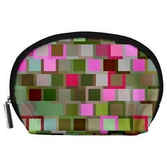 Color Square Tiles Random Effect Accessory Pouches (large)  by Nexatart