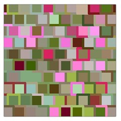 Color Square Tiles Random Effect Large Satin Scarf (square) by Nexatart