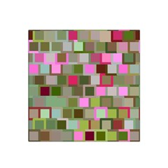 Color Square Tiles Random Effect Satin Bandana Scarf by Nexatart