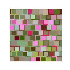 Color Square Tiles Random Effect Small Satin Scarf (square) by Nexatart
