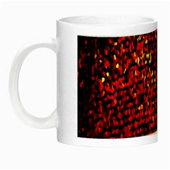 Red Particles Background Night Luminous Mugs by Nexatart