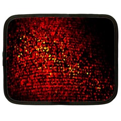Red Particles Background Netbook Case (xxl)  by Nexatart