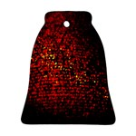 Red Particles Background Ornament (Bell) Front