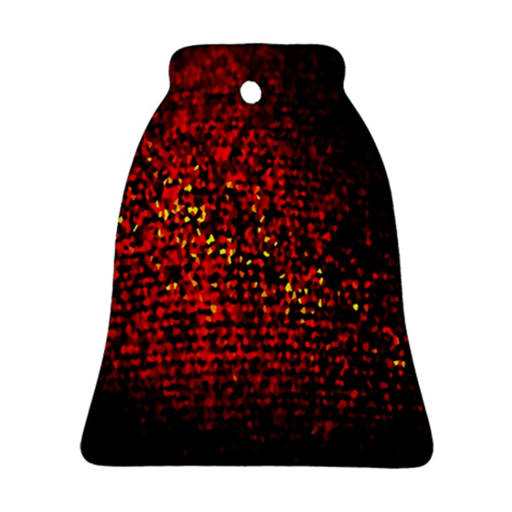 Red Particles Background Ornament (Bell)