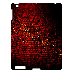 Red Particles Background Apple Ipad 3/4 Hardshell Case by Nexatart