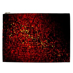 Red Particles Background Cosmetic Bag (xxl)  by Nexatart