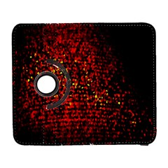 Red Particles Background Galaxy S3 (flip/folio) by Nexatart
