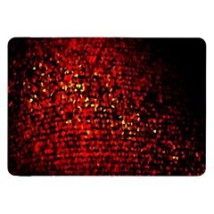 Red Particles Background Samsung Galaxy Tab 8 9  P7300 Flip Case by Nexatart
