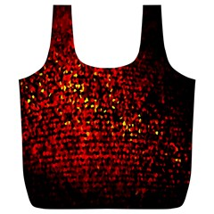 Red Particles Background Full Print Recycle Bags (l)