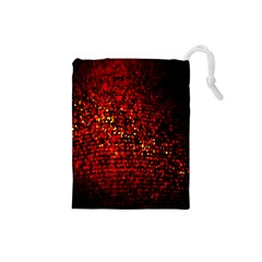 Red Particles Background Drawstring Pouches (small)
