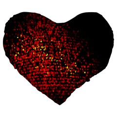 Red Particles Background Large 19  Premium Flano Heart Shape Cushions by Nexatart