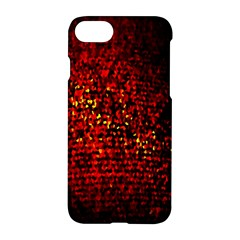 Red Particles Background Apple Iphone 7 Hardshell Case