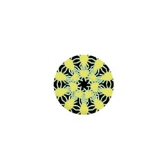 Yellow Snowflake Icon Graphic On Black Background 1  Mini Buttons